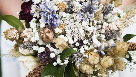 Siofra's beautiful dried-flower bouquet