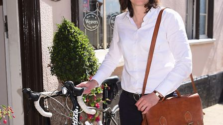 In Your Bag. Katrina Bavin from Weavers Wine Bar in Diss, with her handbag. Picture: DENISE BRADLEY