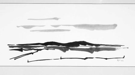 Harry Cory Wright's drawings and photographs of Norfolk's coastal marshes whcih m ake up his new boo