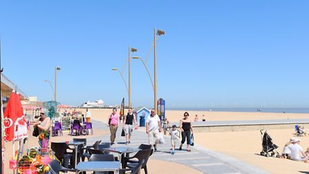 Great Yarmouth seafront on a beautiful summer day