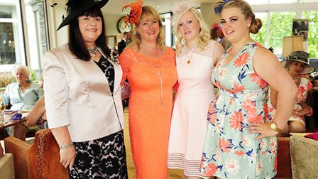 From left: Edna Tuck, Karen Fisher, Hermione Fisher and Lynsey Bowe, at Royal Ascot Day at Inn on th