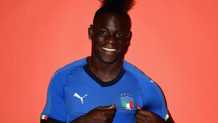 Mario Balotelli is the most high profile ethnic minority player to represent Italy. Picture: Getty I