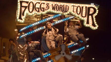 Fogg's World Tour by Harlequin Carnival Club during last year's Burnham-on-Sea procession