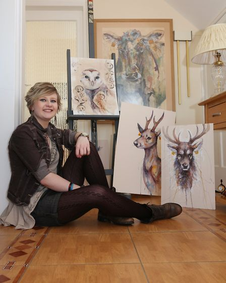Artist Katie Hampson will be in the Lancashire Life marquee