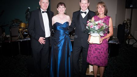 Organisers Denise and Mark Wilde with the CEO of Jigsaw Childrens Hospice Bill Mumford and his wife,