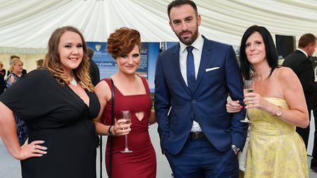 Laura Pitman, Michelle Livesey, Russell Feingold and Sarah Peet