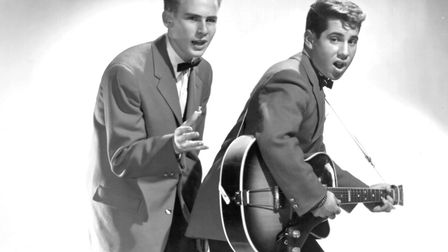 Art Garfunkel and Paul Simon as Tom and Jerry in 1957. Picture: Getty Images