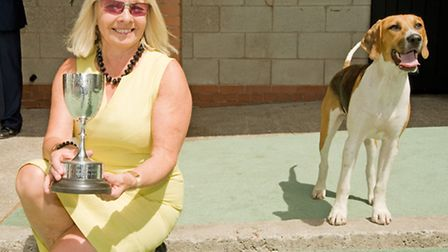 Pauline Ashworth with her champion puppy, Landlord