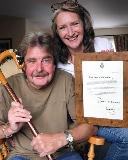Stickmakers by Royal Appointment. Dennis and Linda Wall the stickmakers from Ulverston with the than