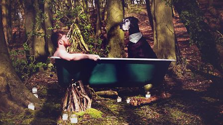 Pass the soap! Lancashire animal photographer Esther Marie Towler took this image of man and dog at