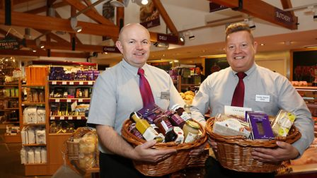 Mike Clark and Steve West in the Food Hall