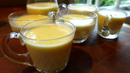 Pour the posset into small glasses or ramekins, allow to cool, then refrigerate to set completely.