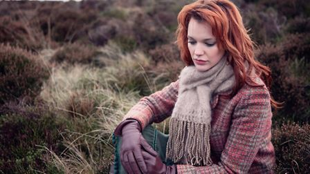 One of the scarves modelled on the moors above Withnell
