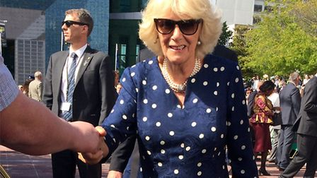 Duchess of Cornwall delighted visitors at Wells Festival of Literature © ChameleonsEye / Shutterstoc