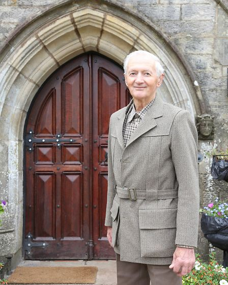 Fred Leigh outside Littledale Hall