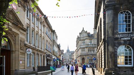 The historic centre of Lancaster