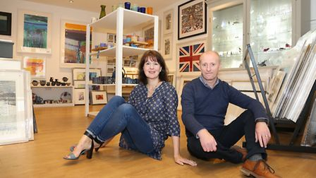 Sarah Jane Bellwood and Andrew Wright of Bellwood and Wright Fine Art