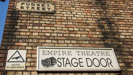 The stage door entrance