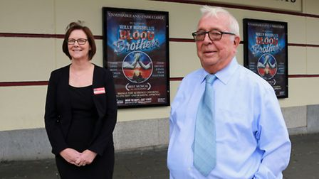 General Manager, Diane Belding and Terry Smith, Chairman of the Theatre Trust, at The Empire Theatre