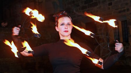 Fire performer, Holly Halford