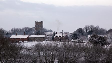 Castle Acre in the snow (Nick Ford, Flickr, CC BY-NC-ND 2.0)