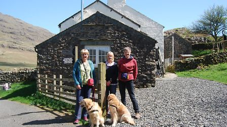 Janet, Sue and Sandra with their dogs