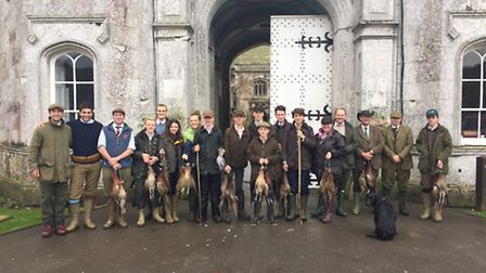 Pupils from the Countryside Management Course with the days bag