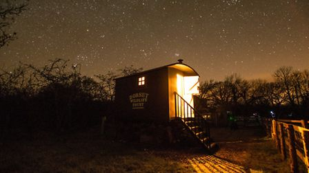Sleep under the stars in the onsite Living Van at Kingcombe