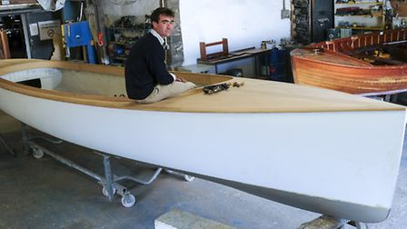 Hamish in the Hawkshead workshop which combines tradition skills with modern technology