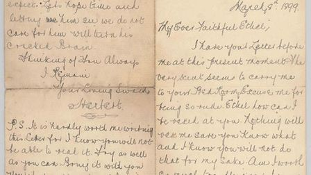 Saucy Herbert writes to Ethel: I have your letter before me at this present moment. The very scent s