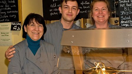 Three generations in the deli - Gwen, Ryan and Jane