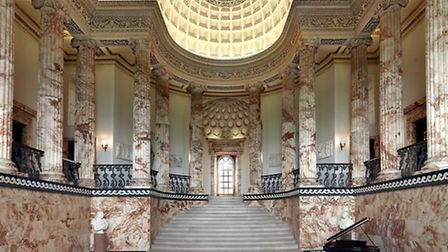The Marble Hall. Images Copyright the Earl of Leicester and the Trustees of the Holkham Estate.