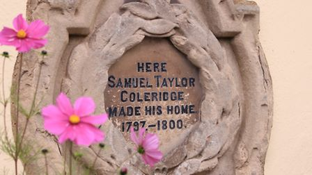The poet Samuel Taylor Coleridge lived in Nether Stowey for three years