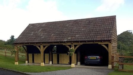 The stables and garaging were created by Nick's own company Barton Buildings