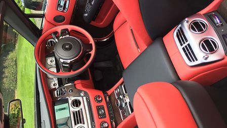 The stunning red colours inside the car