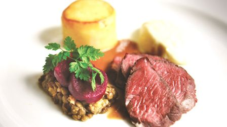 A stunning beef dish from the gourmet menu