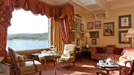The main lounge is a popular spot for afternoon tea