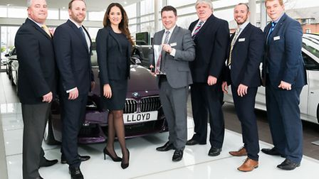 Mark Powell, Head of Business at Lloyd BMW Blackpool, pictured with the BMW Retailer of the Year awa