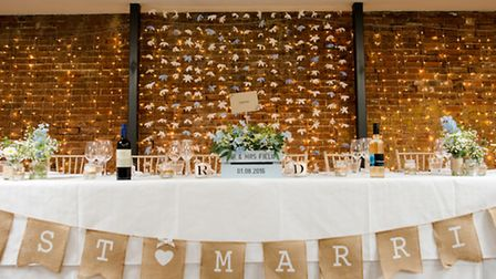My favourite decoration was our flower garland backdrop, which my mum painstakingly made by hand