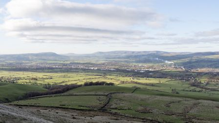 Clitheroe from Pendle