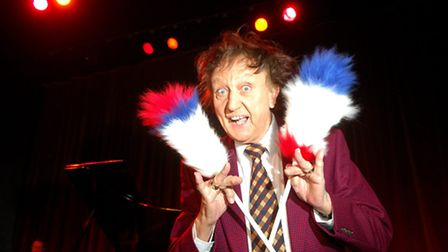 Ken Dodd before his show at the Marina theatre. Photo: Nick Butcher (01603) 772434