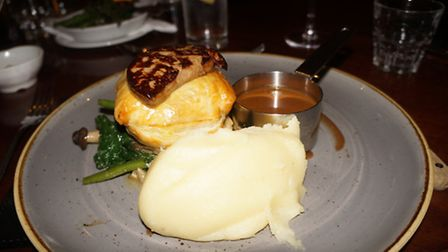 The sauce that came with the beef wellington was divine