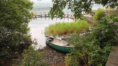 Brantwood jetty by Coniston Water