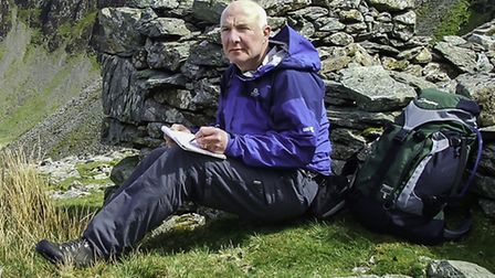 Andy sketching at Dale Head