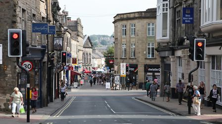 Busy shopping area in Lancaster