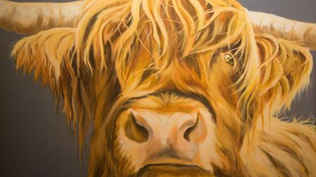 A portrait of Highland cattle was sold to North Carolina