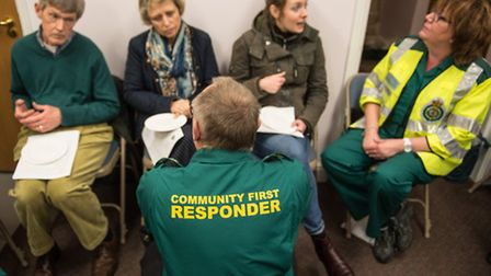 New and untrained recruits getting advice from serving responders (photo: Steve Adams)