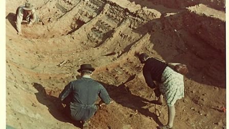 Amateur photographs of the Sutton Hoo dig taken in the summer of 1939 by two visiting school teacher
