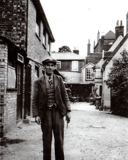 Basil Brown in his home village of Rickinghall.