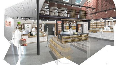 An artist's impression of how the new shop will look
